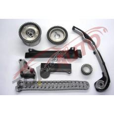 Комплект цепи ГРМ + шестерни + муфта VVT, (  QG13DE, QG15DE, QG16DE, QG18DE ) TKNS128C